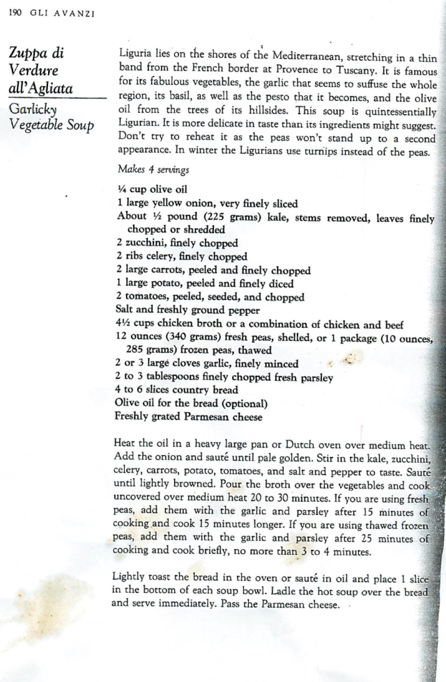 Ligurian soup recipe - Carol Field