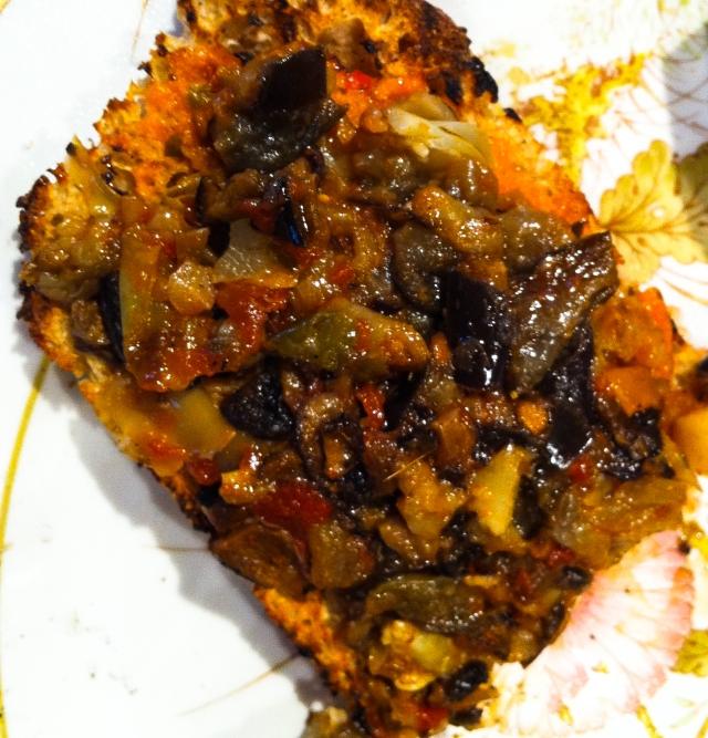 grilled bread closeup