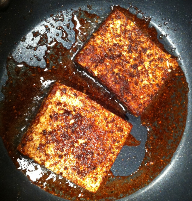 porcini-dusted tofu