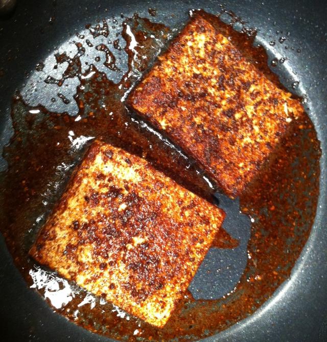porcini-dusted tofu