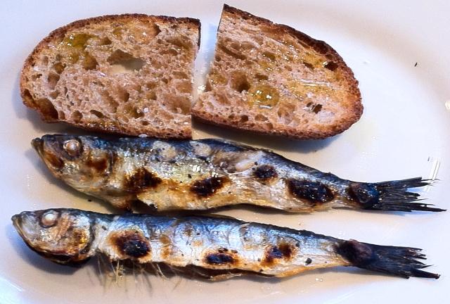 Sardines and toast