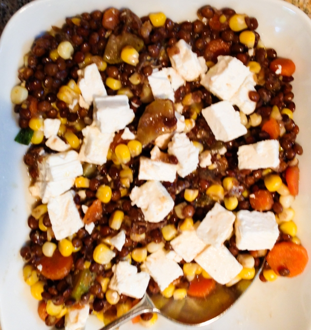 lentils with Feta