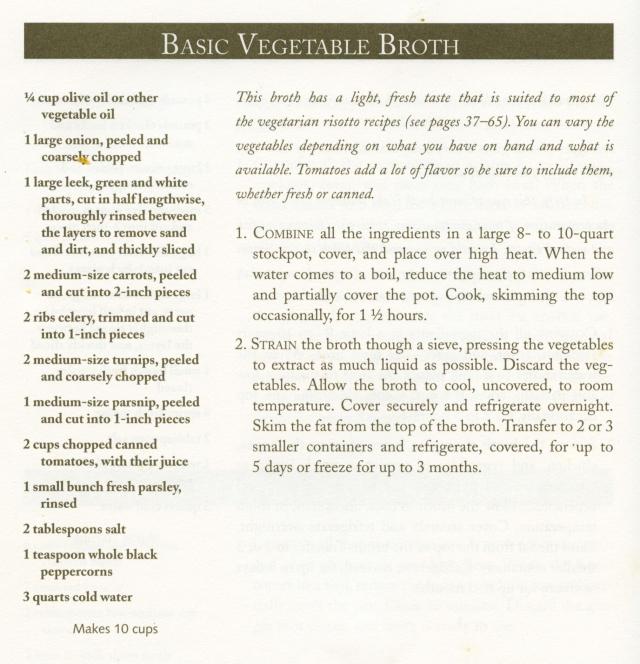 basic veg broth