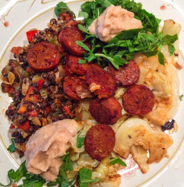 lentil dinner plate