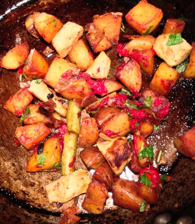 potato artichoke peppers sauté