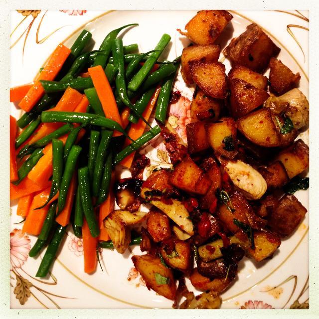 veg dinner plate