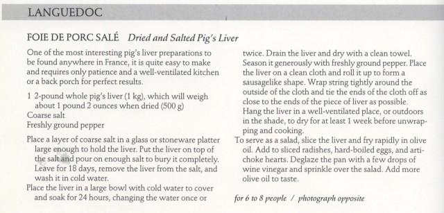 Porc Sale Foie recipe