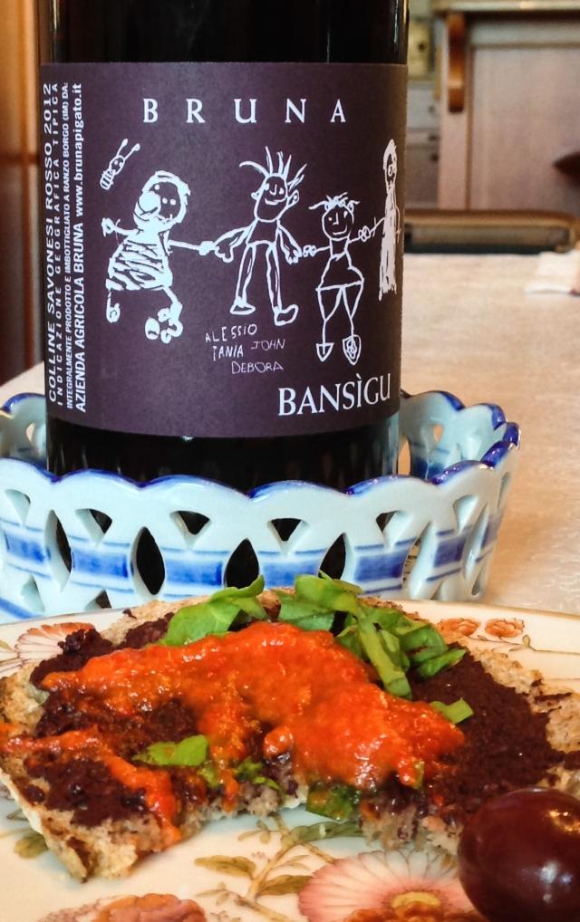 Bansigu and bruschetta