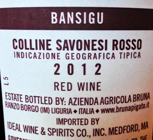 Bansigu back label