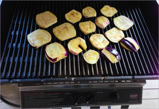 eggplant on grill