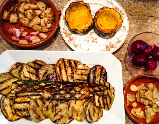 grill-roasted veggies
