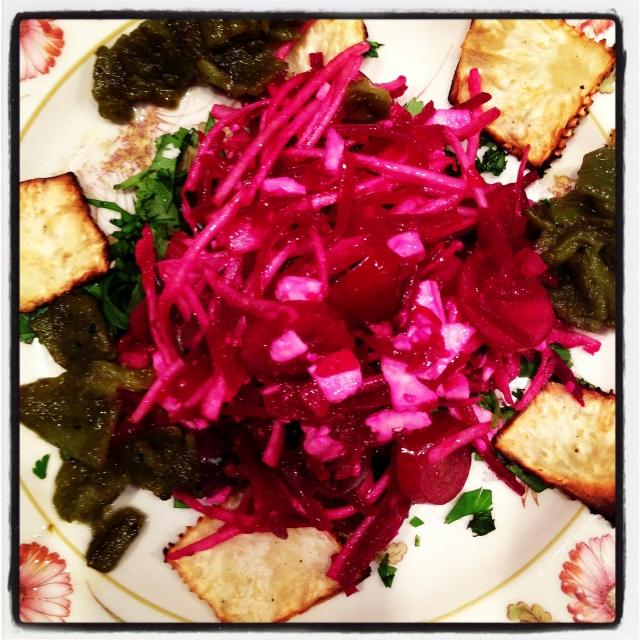 beet-celeriac-feta salad