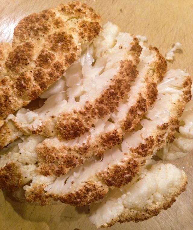 cauliflower slices