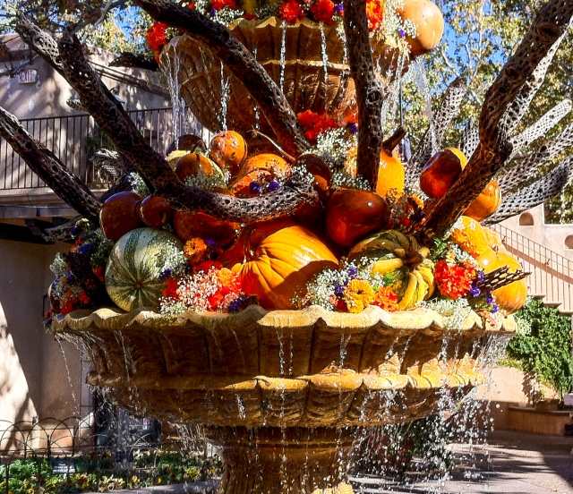 Fall harvest fountain