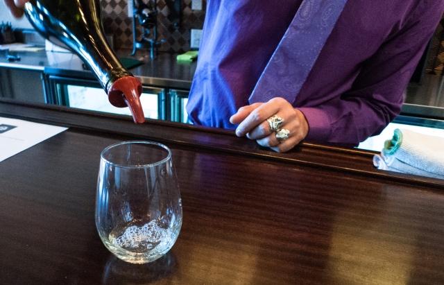 Four Eight - pouring a white