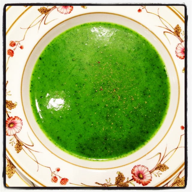 spinach-potato-onion soup