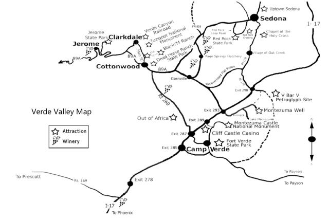 Verde Valley map