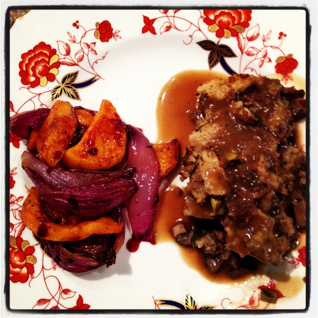 roasted vegs, stuffing and gravy - Instagram-2