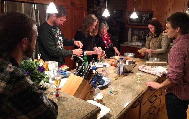 the crew makes cake