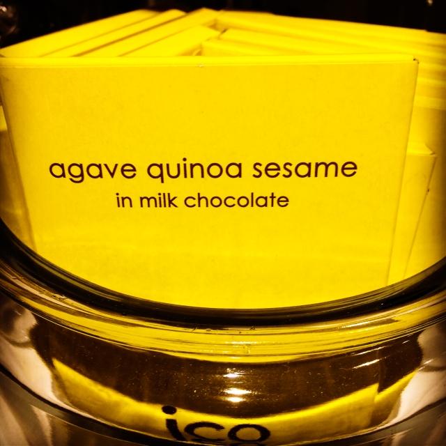 agave quinoa sesame choc