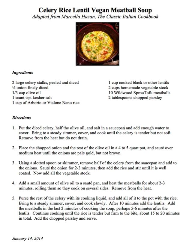 celery rice lentil soup recipe