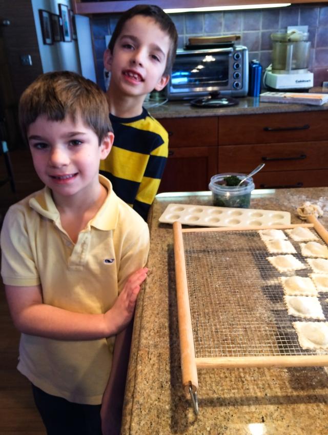 grandsons and their handiwork