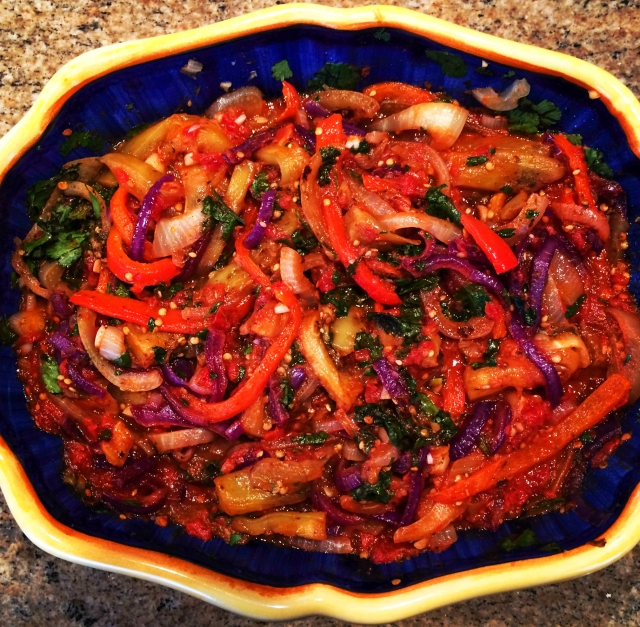 eggplant-pepper salad