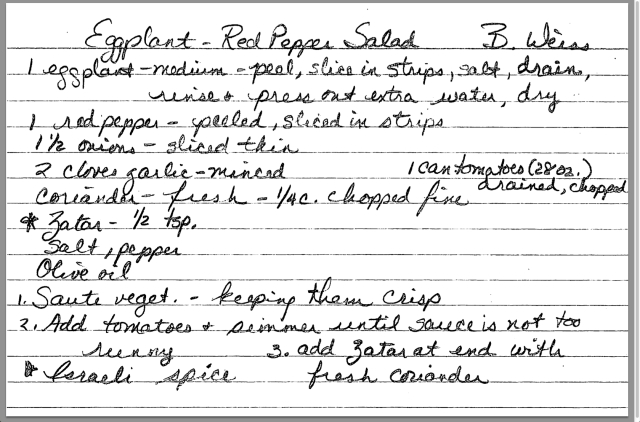 Eggplant Red Pepper Salad recipe