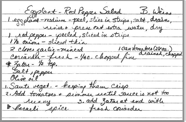 Eggplant Red Pepper Salad recipe