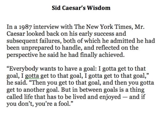 Sid Caesar's Wisdom