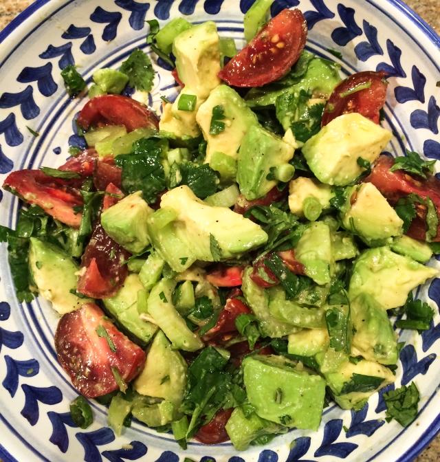 avocado tomato cilantro salad