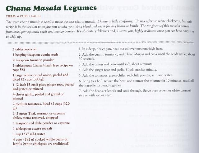 Chana Masala Legumes