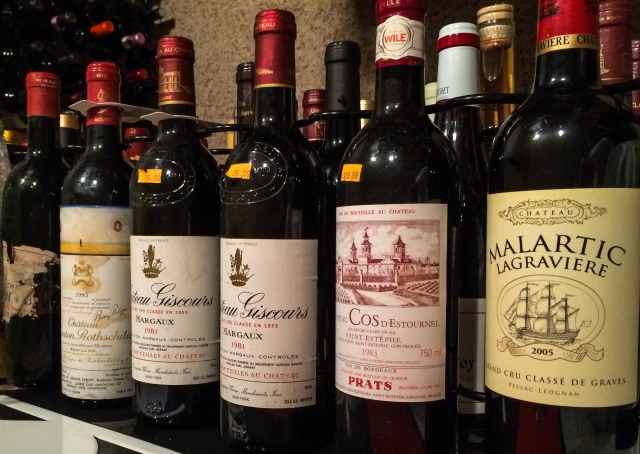old Bordeaux in the racks