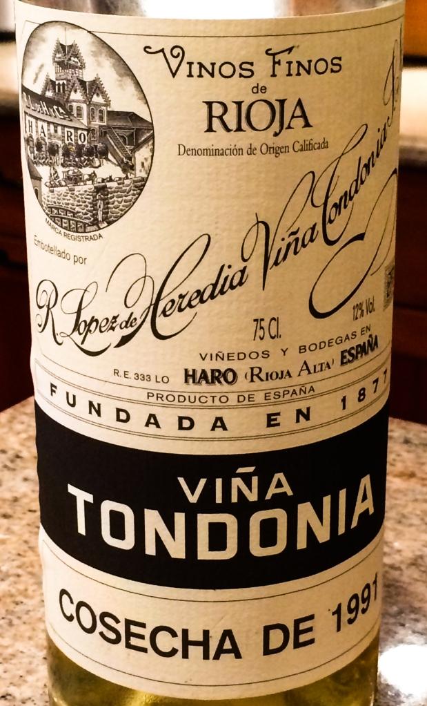 Vina Tondonia white Rioja 1991-2