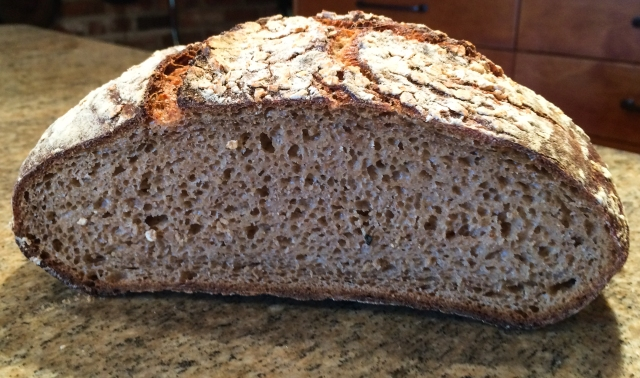whole wheat levain - July 12