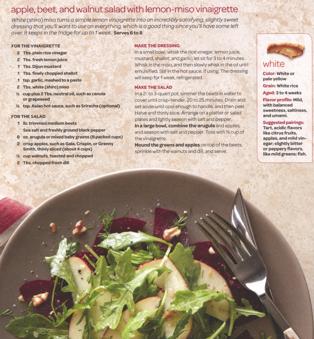 Apple Beet and Walnut Salad