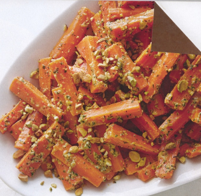 dog-earred carrot dish from mag