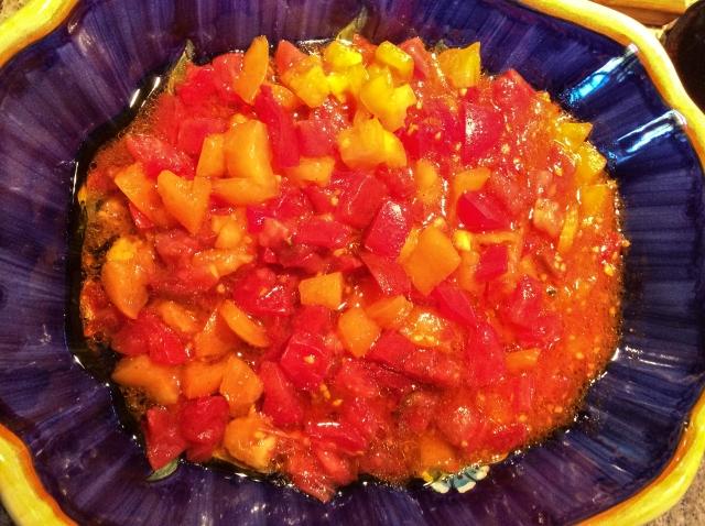 marintated tomatoes