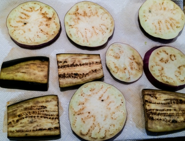 salted eggplant slices