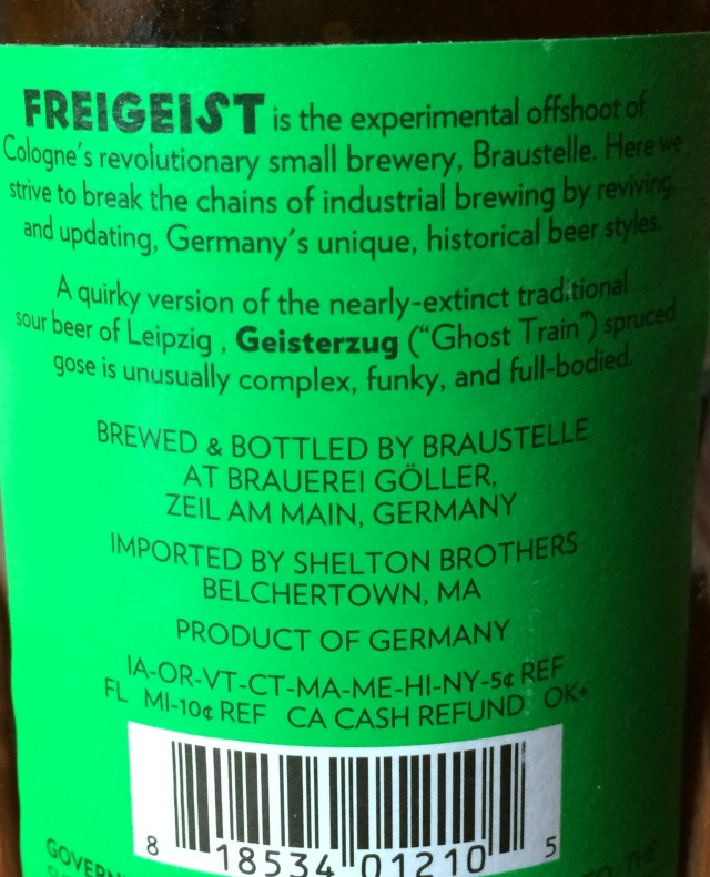 gose back label