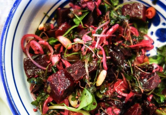 Beet and Micro-Greens Salad