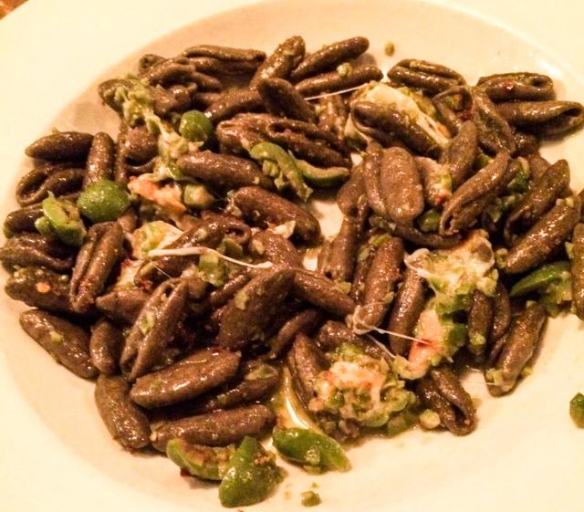 AlMar Cavatelli Grano d'Arso with smoked mozzarella and green olives