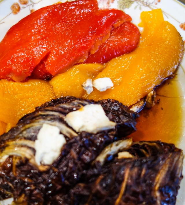 juicy roasted peppers and radicchio