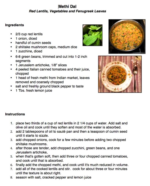 Methi Dal recipe