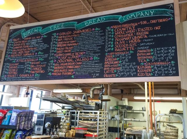 BirchTree menu board