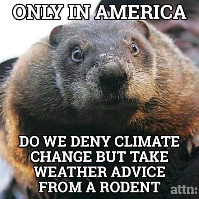 climate change and groundhog