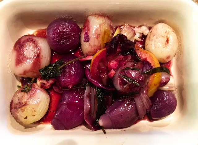 Braised Onions with Lemon and Herbs