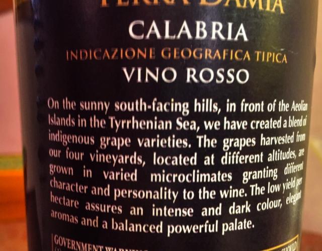 Calabria Vino Rosso