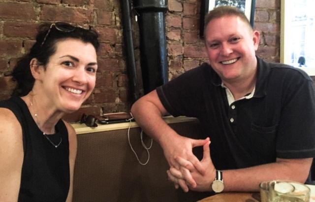 Dan & Charisse at Snack Taverna table