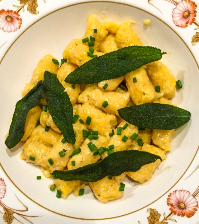 gnocchi with fried sage leaves